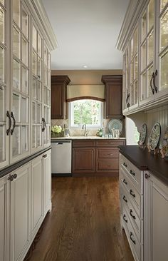 Bright, Functional, And Beautiful Amish Cabinetry In The Butleru0027s Pantry Is  Designed To House Additional Serving Pieces And Provide For A Wet Bar  Adjacent ...