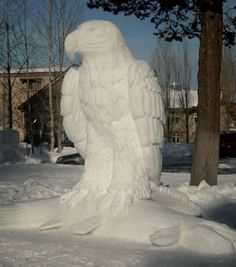 McCall Idaho, Let's Go! Winter Wonder, Winter Fun, Winter Snow, Snow Sculptures, Sculpture Art, Metal Sculptures, Abstract Sculpture, Bronze Sculpture, Snow Castle