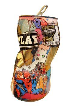 Artiste Joy' Popy Can & Poupées Russes, sculpture - bronze Sculpture Art, Sculptures, French Artists, Lovers Art, Collages, Pop Art, Bronze, Joy, Canning