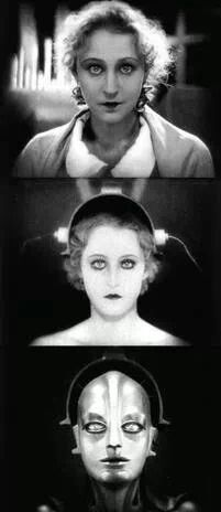 Brigitte Helm in Metropolis 1927 German expressionist science-fiction film directed by Fritz Lang Film Science Fiction, Fiction Movies, Sci Fi Movies, Old Movies, Movie Tv, Louise Brooks, Old Hollywood, Metropolis 1927, Metropolis Robot
