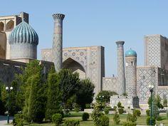 Los reflejos azules de Samarkanda I: El Registán Conquistador, Marrakesh, Casablanca, Taj Mahal, Building, Travel, Blue Highlights, Blue Nails, Alexander The Great