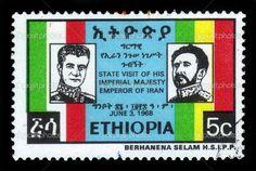 Gallery of Emperor Haile Selassie   stamp printed in Ethiopia shows portraits of emperor Haile Selassie ...