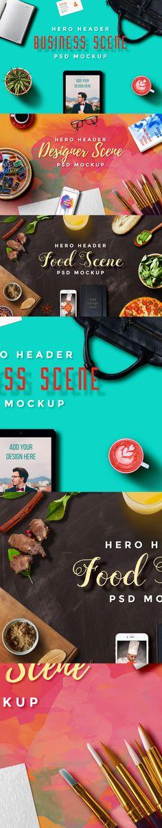 Free Hero Header Scene Mockup Templates (281 MB) | Graphics Fuel | #free…