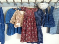 primitive antique children's clothing   19Th C Early Children's clothing.
