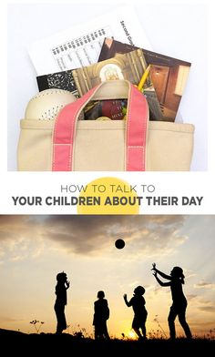 Useful tips for talking with the children in our lives about their time at school...