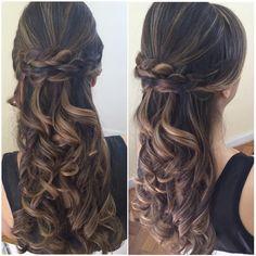 penteado com cabelo solto - Pesquisa Google