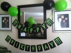 Monster Energy Drink birthday banner for my husband :) He loves these drinks so why not make it a birthday theme.