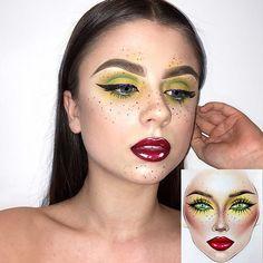 #artist@milk1422 #artist @freyagagon 😍🙏 Amazing makeup 💛💚💕❤ thank you so much @freyagagon 💕 very cool 👑 #amazingmakeupartist 👉 @freyagagon 🌟✨ #myart #mylove #myartistcommunity #myartistcommunityrussia #makeup #makeupart #freckles #luck #mystic #magic #magicmakeup #makeupartist #makeuplover #визажист #макияж #фейсарт #фейсчарт #faceart #facechart #macfacechart #facechartart #facechartartist #redstar #existence #beautymakeup #freckles
