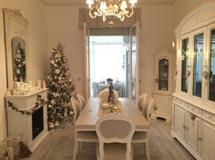 xmas in a shabby chic home