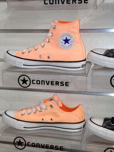 Coral coloured Converse!....gorgeous.