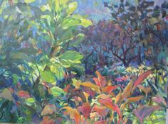 "Lib Steward ""Garden"" Oil on Canvas"