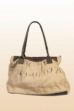 Anne Hessian Hand Bag