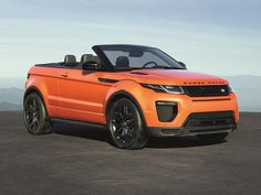 The 2017 Land Rover Range Rover Evoque Convertible is a four-passenger, two-door drop-top with the brand's most cutting-edge touchscreen infotainment system.