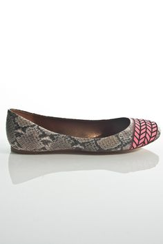 gamesinfomation.com Sage Embroidered Toe Ballet Flats in Neon Pink coupon| gamesinfomation.com