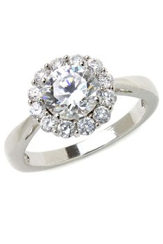 Bijoux Majesty 1.50 Ct Diamond Engagement Ring In 14K White Gold
