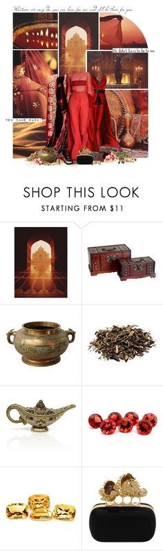 """Aladdin - The Return of Jafar (Jasmine)"" by giovanna1995 ❤ liked on Polyvore featuring Dolce&Gabbana, SAM., Naeem Khan, Leiber, Alexander McQueen and Jimmy Choo"