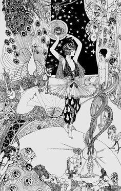 Art Illustration Vintage, Illustrations, Graphic Illustration, Art Inspo, Bel Art, Arte Grunge, Art Vintage, Ouvrages D'art, Alphonse Mucha