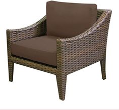 TK Classics Manhattan Club Chair, Cocoa. Luxury Patio Furniture. Color : Cocoa. Designed to create luxurious outdoor living environment.