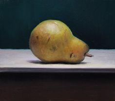 Pear Still life, painting by artist Jos van Riswick