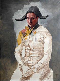 Pablo Picasso • Arlequin (Le peintre Salvado en arlequin), 1923