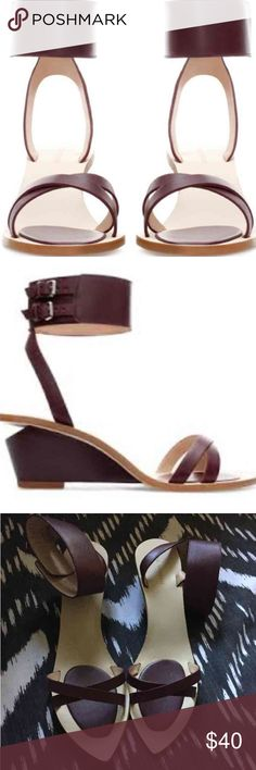 Zara Genuine Leather Sandals Worn once. Very comfy and I live the unique style! Euro 41 Zara Shoes Sandals