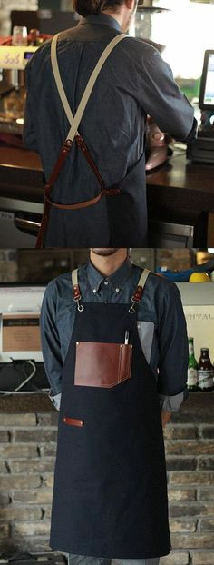 Items similar to Wholesale Premium Gift for woman and man Chef Works Handmade Apron Japanese Cross Back - Roco real cow leather Apron Navy on Etsy Leather Apron, Cow Leather, Leather Gifts, Leather Craft, Shop Apron, Restaurant Uniforms, Work Aprons, Apron Designs, Aprons For Men