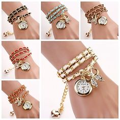 Women's Bow Bracelet Quartz Watches(Assorted Colors) C&D-131 – EUR € 5.99