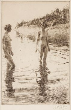 Anders Zorn (1860-1920) Shallow