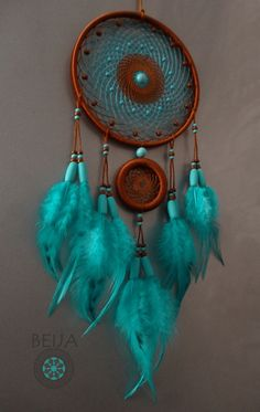 Blue and brown dream catcher