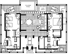 Resort style house floor plans