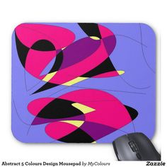 Abstract 5 Colours Design Mousepad