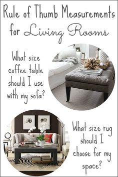 """I've definitely made my fair share of mistakes when buying furniture and accessories. Most of them had to do with choosing something that wasn't the right scale for my space (the ginormous """"Dr. Spock"""" chair that I bought for the… Continue Reading → Small Living Room Furniture, Small Living Rooms, Rugs In Living Room, Living Room Designs, Home Furniture, Living Room Decor, Furniture Ideas, Furniture Movers, Furniture Outlet"""