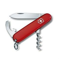 Victorinox Waiter Army Knife - Red - 5 cm non-locking blade Large blade combination tool Bottle opener, can opener with - small screwdriver and wire stripper