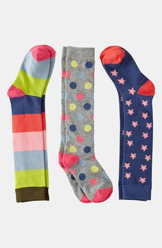 Mini Boden Knee Socks (3-Pack) (Girls) available at #Nordstrom