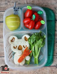 CuteZCute Koala Lunch from Mamabellys Lunches with Love - Fun Kids Bento Cold Lunches, Healthy Lunches For Kids, Kids Meals, Healthy Eating, Food Art For Kids, Cooking With Kids, Fun Sandwiches For Kids, Cute Food, Good Food