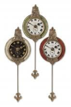 Dimensions: H x W x D Materials: Mdf, Brass, Aluminum Weight: lbs Weathered Laminated Clock Face With Cast Brass Details And Pendulum. Weathered Laminated Clock Face With Cast Brass Details And Pendulum. Traditional Wall Clocks, Pendulum Wall Clock, Tabletop Clocks, Clock Decor, Wall Decor, Room Decor, Home Living, Living Room, Home Accessories