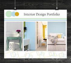 Interior design portfolio cover page