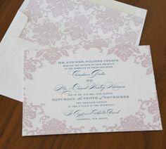 Damask Couture #digital #wedding #invitation #etsy #purple #lavender #blue #elegant #ornate #classic #design #classicwedding #weddinginvites #abbeymalcolmpress #abbeymalcolmletterpressanddesign www.abbeymalcolmpress.com www.etsy.com/shop/abbeymalcolmpress