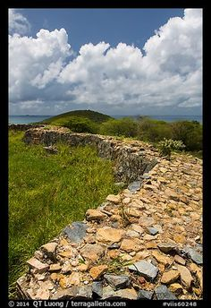 Shipleys Battery and island highest point, Hassel Island. Virgin Islands National Park,Part of gallery of color pictures of US National Parks by professional photographer QT Luong, available as prints or for licensing. Us Virgin Islands, British Virgin Islands, Virgin Islands National Park, Us National Parks, St Thomas, Caribbean Sea, Colorful Pictures, High Point, Picture Photo