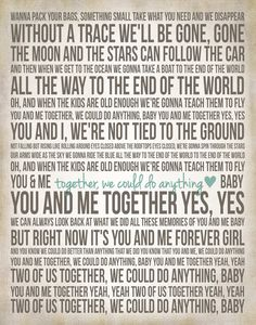 Song Lyric Poster You and Me Various Sizes DMB by ADoseOfDani, $12.00