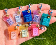 Handmade Mini hot chip bag charms ��� You will receive 1 chip bag charm beautifully wrapped and packaged! 🎀 (Great collectible item or can make a great gift � ) Mini Choses, Accessoires Barbie, Cute Keychain, Keychains, Mini Craft, Miniature Crafts, Miniature Food, Cute Charms, Diy Doll