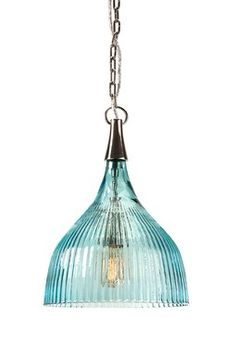 HauteLook | Revamp With Vintage Accents: Sidni Teal Luster Ribbed Pendant Light