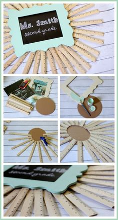 DIY ruler sunburst back to school classroom sign