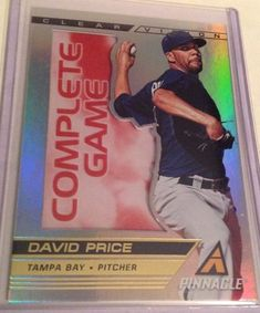 2013 Panini Pinnacle David Price Clear Vision Insert Card # CV12 Rays