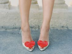 Heart pumps by Vivianna Westwood for Melissa.