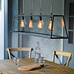 The Diner pendant comes in two sizes; 125cm shown and a smaller 75cm version. Perfect for finishing that industrial look this pendant is perfect for placing over a dining table or island.
