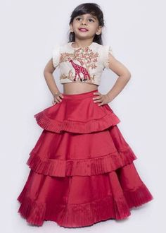 Baby Lehenga - Buy Kids Lehenga For Wedding Function Or Party Wear Kids Party Wear Dresses, Baby Girl Party Dresses, Dresses Kids Girl, Kids Party Wear Frocks, Gowns For Girls, Frocks For Girls, Kids Lehenga Choli, Baby Lehenga, Silk Lehenga
