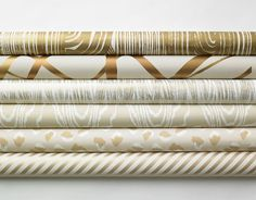 Metallic Kelly Wearstler for Lee Jofa Wallpaper Rolls
