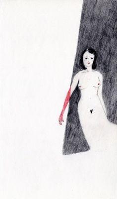 Elise BERGAMINI - I AM WHITENED WITH SHADOWS (« My sweet lie » avec Marie-Laure Dagoit) 2012 13 x 20,5 cm  courtesy PapelArt