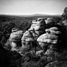 Garden of the Gods by Jeff Burton Jeff Burton, Ansel Adams, Rock Formations, Black And White Photography, Mud, Favorite Color, City Photo, Cool Photos, Rocks